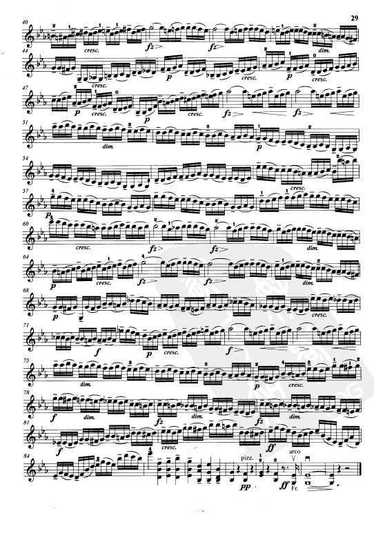 开赛小提琴练习曲乐谱下载 第21首
