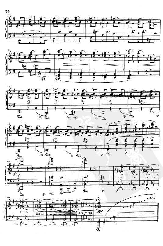 钢琴乐谱下载 肖邦练习曲Opus 25 Nr.5