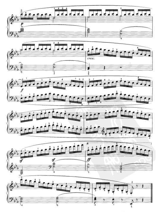 车尔尼钢琴练习曲849乐谱下载 第18首